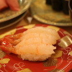 回転寿司函館まるかつ水産 - ボタン海老
