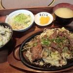 清香園 - ランチ:牛タン定食(並):980円