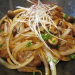 タモーチェ - 豚肉とキノコのおどんぶりアップ