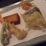 与太呂 - 天婦羅1回目 海老、ししとう、なす、たまねぎ、えびパン揚げ