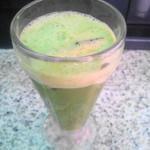 ぴーまん - ジュースは低速ミキサーで作られてます ちょっと泡だってクリーミー