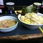 へーちゃんラーメン - つけ麺(平打ち麺)+味玉
