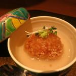 野菜割烹 あき吉 - 南瓜饅頭のあられ餡かけ