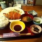 15022994 - 肩ロース豚カツ定食☆750円(2012/9)