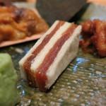 神楽坂 おいしんぼ - 焼ウニ (干柿サンド)