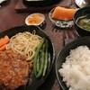 グリル ふらいぱん - 料理写真:ハンバーグ(カレーソース)+定食 ¥1100