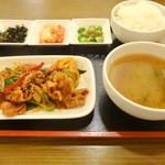 アリラン - 豚肉甘辛炒め定食