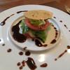 レストラン エスカリエ - 料理写真:トマトとホタテのガレット、バルサミコソース