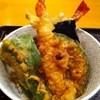 言問食堂さかえ - 料理写真:大海老天丼(ランチセットの大海老天丼&冷やしうどんセット¥850)