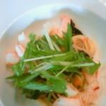 15109845 - 水菜と海老のパスタ