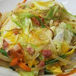 つた家 - 野菜卵とじ載せご飯が「チャンポン」