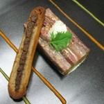 シェ オリビエ - イワシのマリネ、バスク風野菜の軽い煮込み、シソのクリーム添え