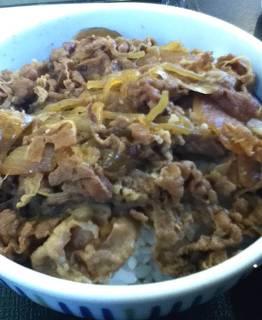 なか卯 - 和風牛丼(並)+(小)坦々うどん ¥540