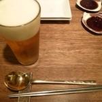 まつの実 - 2012.10 まずはビールですよね:笑