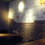 ニクヤ ブッチャーズグリルニューヨーク - 壁にレシピが描かれています