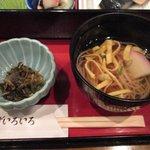魚菜おかずいろいろ - 高菜和え物とお吸い物