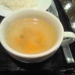 勘之丞 - にんじん・大根・セロリのはいったスープ サッパリしてます