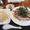 紅龍 - 料理写真:週替わりセット(750円)のチキンカツと焼きめし。