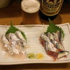 豊田屋 - 料理写真:太刀魚刺(600円)、新さんま刺(400円)
