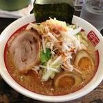 千石自慢らーめん - 野菜ラーメン+味玉(2012.8)