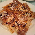 カフェレストラン ROTI - 料理写真:チョコとアーモンドのロティクレープ