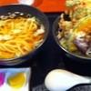 ひな玉うどん店 - 料理写真:かけ・かき揚げ丼セット