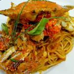 シュクール - 渡りガニのトマトクリームスパゲティ