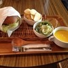 cafe 憩 - 料理写真:ハンバーガーセット 850円