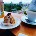 ナチュラルフードカフェグリーンハート - モンブランとコーヒー