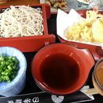 日牟禮庵 - 天そば(並盛り)