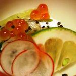 ゆふいん 花由  - 料理写真:太刀魚の昆布〆・とんびり・いくら・・普通です。