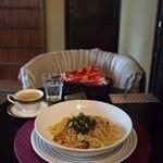 チーズケーキプリンセス岡崎カフェ - 本日のパスタ