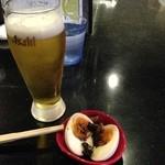 めじろ - 生ビール500円とだし玉100円