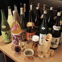 曽根店長のこだわり焼酎・日本酒・梅酒は合わせて100種以上!