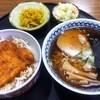 御食事処 松竹 - 料理写真:ミニかつ丼ミニらーめんセット