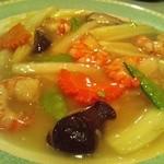 オトメ - セロリとエビと五目野菜の炒め