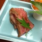岡半 - 前菜(ローストビーフ)