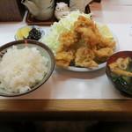 季節料理 西田 - 若鶏一口カツ定食(600円)