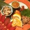 和ごころ 一代目あべ - 料理写真:八寸。手前の黄色いのは柿の天ぷら。