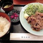 麻布茶房 - 豚生姜焼き御膳_900円