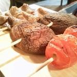 15502724 - トマト&椎茸&はつの串焼き