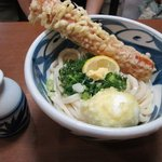 讃松庵 - ちく天ぶっかけ 麺半分