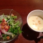 カフェ カイロス - 前菜とスープ(ランチメニュー800円)