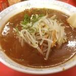 空海 - 味噌もやし手打ちラーメンと半カレーセット(^^)