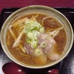 八味一心 - 正油ラーメン・ふつう(600円)