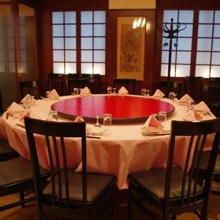 最大120名様まで収容可能な大宴会場もございます。