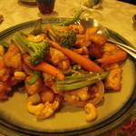 北白川中国料理 叡 - ナッツと野菜の炒め