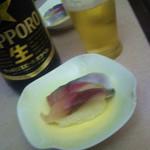 食彩や魚太郎 - お通しが〆サバの寿司!こんなお通しは初めて♪
