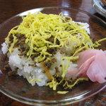 民宿 菊水 - 料理写真:郷土食のちらし寿司。鯖のソボロがかかってます