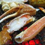 民宿 菊水 - 料理写真:焼きが二。ちょっと季節外れですけどふっくらしてました。